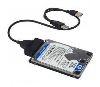 "USB cable to SATA 2.5 external hard disk HDD SSD Adapter Converter""  - 1"