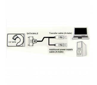 "USB cable to SATA 2.5 external hard disk HDD SSD Adapter Converter"" ARREGLATELO - 8"
