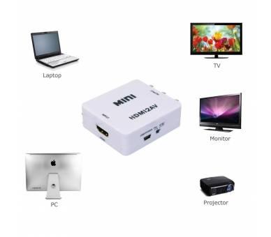 Adaptador Conversor De Señal HDMI a AV Rca Analogica Video -NTSC/PAL HDMI-to-AV  - 2