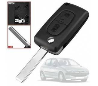 Remote Key Cover Case CE0536 HU83 mit 2 Tasten für Citroen C2 C3 C4 C5 C6