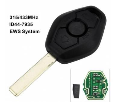 LLAVE COMPLETA CON ELECTRÓNICA PARA BMW SERIE 3 5 6 7 433Mhz PCF7935 HU92 - 3