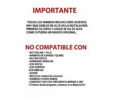 MD7 MANDO DE GARAJE COMPATIBLE UNIVERSAL CLEMSA ERREKA NICE PUJOL - 2