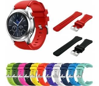 Recambio para Correa Samsung Gear S3 Pulsera de Silicona Reloj Smartwatch