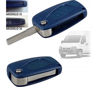CASE HOUSING FOR FIAT PANDA DUCATO PUNTO STILO 2 3 BUTTONS BLUE