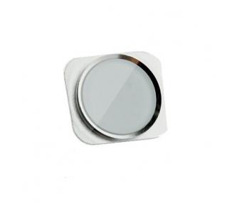 Boton Home Inicio de plastico recambio blanco plata para Iphone 5S - Nuevo