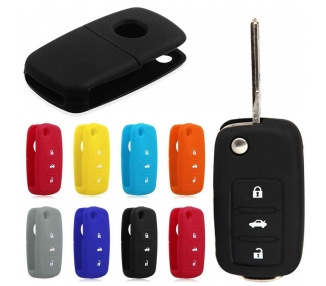 SILICONE SLEEVE CASE FOR VOLKSWAGEN GOLF KEY SEAT IBIZA LEON SKODA VW CARCASA