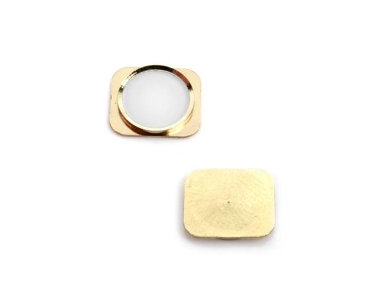 Boton Home Inicio De plastico para Apple iPhone 5S Dorado Oro  - 1