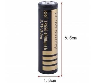 1x HIGH QUALITY RECHARGEABLE BATTERY BATTERY 18650 4000mAh 3.7V ARREGLATELO - 1