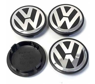 4 X TAPAS LLANTA RUEDA VOLKSWAGEN VW POLO GOLF PASSAT CADDY 65 MM LOGO 3B7601171 - 1