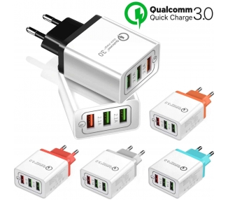 Chargeur USB Triple Charge Rapide pour Tablette Mobile Qualcomm 3.0 Universel  - 1