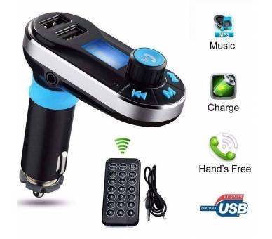 Transmisor FM Cargador USB Reproductor MP3 Manos Libres Bluetooth para Coche ARREGLATELO - 1