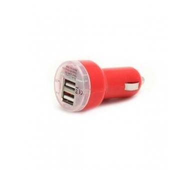 Car Charger - Double USB ports - Color Red ARREGLATELO - 1