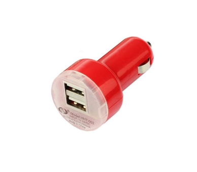CARGADOR COCHE MOVIL SUPER RAPIDO DOBLE USB IPAD IPHONE SAMSUNG LG TABLET ROJO ARREGLATELO - 2
