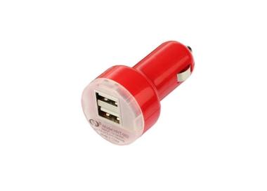 CARGADOR COCHE MOVIL SUPER RAPIDO DOBLE USB IPAD IPHONE SAMSUNG LG TABLET ROJO ARREGLATELO - 2