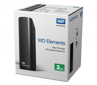 WD Elements Desktop - Disco duro externo de sobremesa de 3 TB Western Digital - 1
