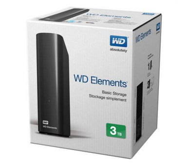 WD Elements Desktop - Disco duro externo de sobremesa de 3 TB Western Digital - 1
