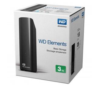 WD Elements Desktop - Disco duro externo de sobremesa de 3 TB