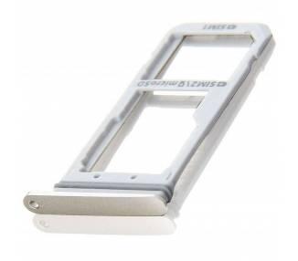 Bandeja Porta Tarjeta Dual Sim Micro SD para Samsung Galaxy S7 Dorado  - 1