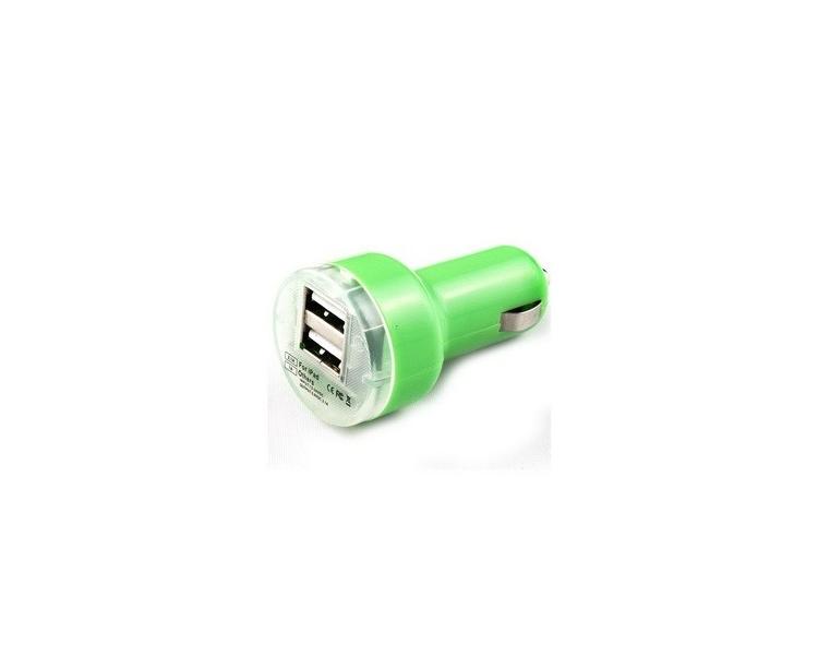Ładowarka samochodowa - podwójne porty USB - kolor zielony ARREGLATELO - 1