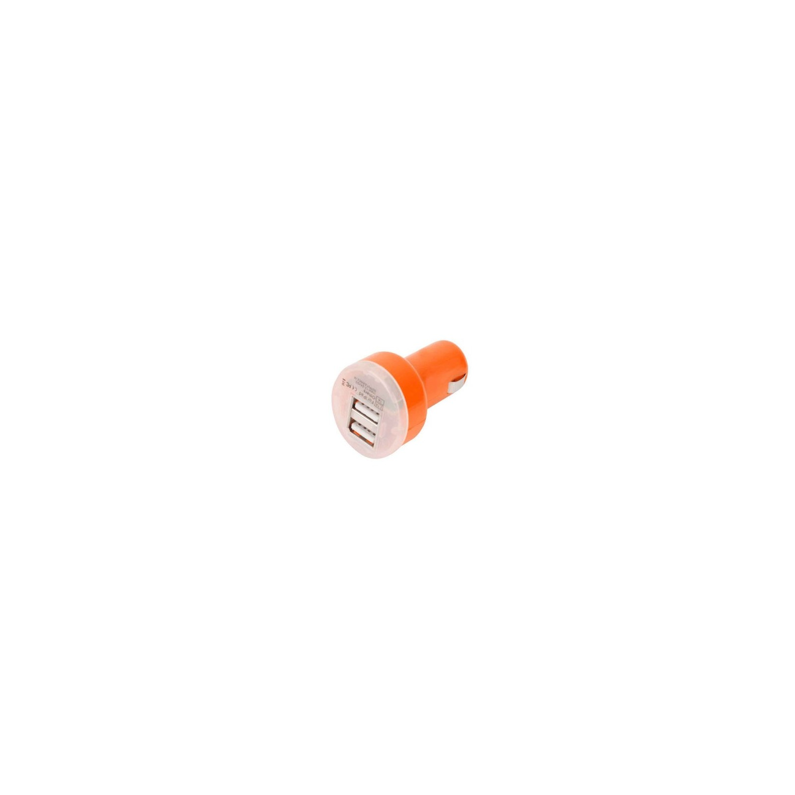 CARGADOR COCHE MOVIL RAPIDO DOBLE USB IPAD IPHONE SAMSUNG LG TABLET NARANJA ARREGLATELO - 1