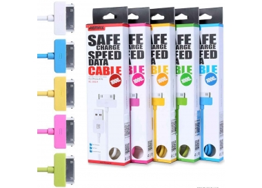 Cable USB 30 PIN Original Remax para iPhone 4 4S iPod iPad  - 1