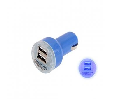 Autolader - Dubbele USB-poorten - Kleur Blauw ARREGLATELO - 2