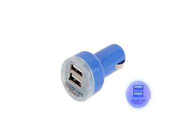 CARGADOR COCHE MOVIL SUPER RAPIDO DOBLE USB IPAD IPHONE SAMSUNG LG TABLET AZUL ARREGLATELO - 2