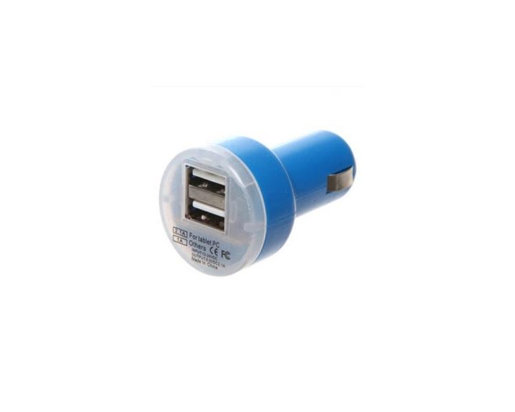 Autolader - Dubbele USB-poorten - Kleur Blauw ARREGLATELO - 1
