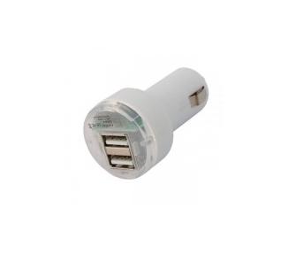 CARGADOR COCHE MOVIL SUPER RAPIDO DOBLE USB IPAD IPHONE SAMSUNG LG TABLET BLANCO ARREGLATELO - 2