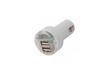 Car Charger - Double USB ports - Color White ARREGLATELO - 2