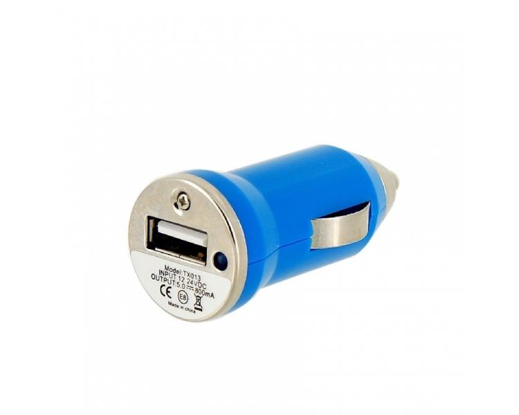 CARGADOR COCHE MOVIL USB IPAD IPHONE SAMSUNG LG HTC NOKIA TABLET HUAWEI AZUL ARREGLATELO - 1
