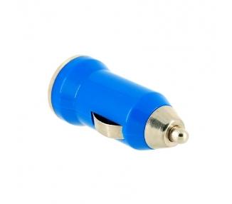 CARGADOR COCHE MOVIL USB IPAD IPHONE SAMSUNG LG HTC NOKIA TABLET HUAWEI AZUL ARREGLATELO - 2