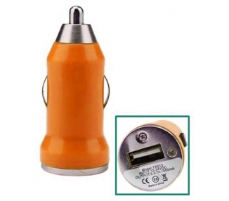 CARGADOR COCHE MOVIL USB IPAD IPHONE SAMSUNG LG HTC NOKIA TABLET HUAWEI NARANJA ARREGLATELO - 1