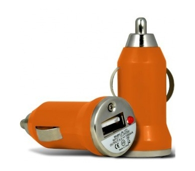 CARGADOR COCHE MOVIL USB IPAD IPHONE SAMSUNG LG HTC NOKIA TABLET HUAWEI NARANJA - 2