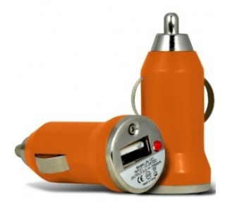 CARGADOR COCHE MOVIL USB IPAD IPHONE SAMSUNG LG HTC NOKIA TABLET HUAWEI NARANJA ARREGLATELO - 2