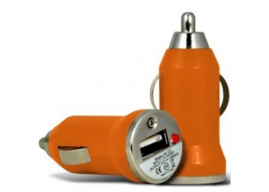 Car Charger - Double USB ports - Color Orange ARREGLATELO - 2