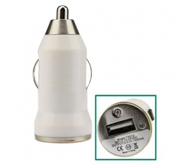 Car Charger - Double USB ports - Color White  - 1