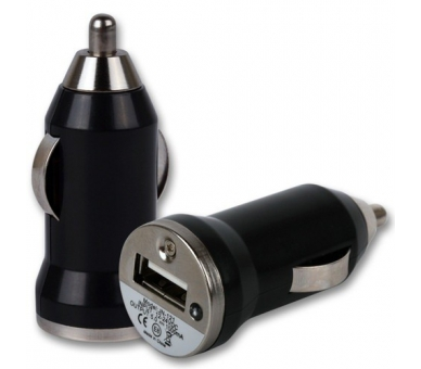 Ładowarka samochodowa - podwójne porty USB - kolor czarny ARREGLATELO - 1