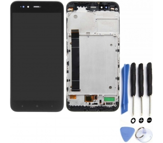Pantalla Completa para Xiaomi Mi A1, Xiaomi Redmi 5X Con Marco Negro Negra ARREGLATELO - 1