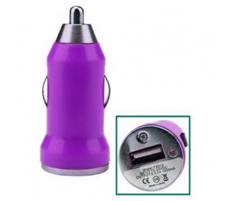 CARGADOR COCHE MOVIL USB IPAD IPHONE SAMSUNG LG HTC NOKIA TABLET HUAWEI MORADO
