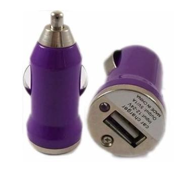 Ładowarka samochodowa - podwójne porty USB - kolor fioletowy ARREGLATELO - 2