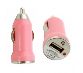 Car Charger - Double USB ports - Color Rose