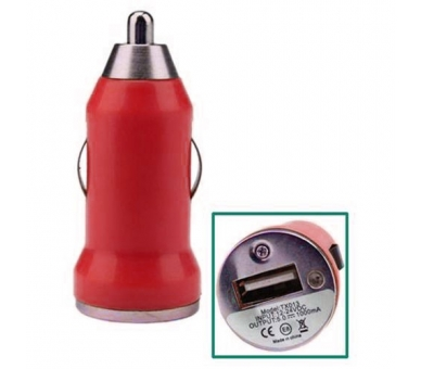 Car Charger - Double USB ports - Color Red - 2