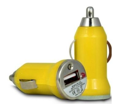 Car Charger - Double USB ports - Color Yellow ARREGLATELO - 2