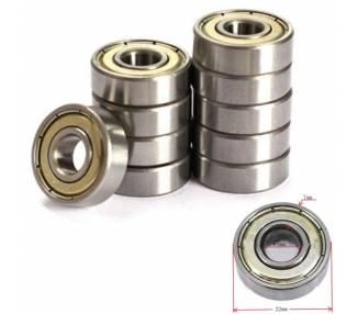 5x Rodamiento 608zz 8mm Cojinete Bolas Impresora 3d Reprap Prusa I0108