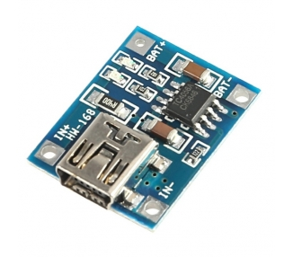 Módulo cargador baterias de Litio TP4056 5V 1A mini USB Charger Li-Ion LiPo A008
