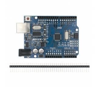UNO R3 ATmega328 CH340 100% Compatible con Arduino + tira 40 pines macho B0011