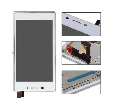 Display For Sony Xperia M2, Color White, With Frame ARREGLATELO - 2