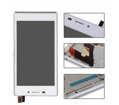 Pełny ekran z ramką dla Sony Xperia M2 D2302 D2303 D2305 D2306 biały ARREGLATELO - 2