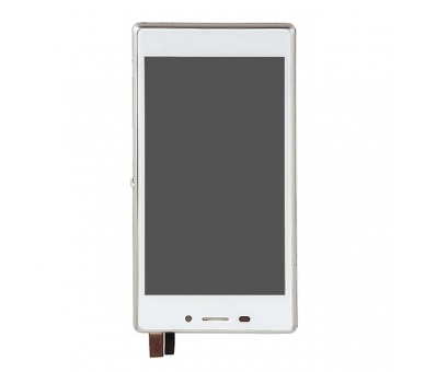 Display For Sony Xperia M2, Color White, With Frame ARREGLATELO - 4